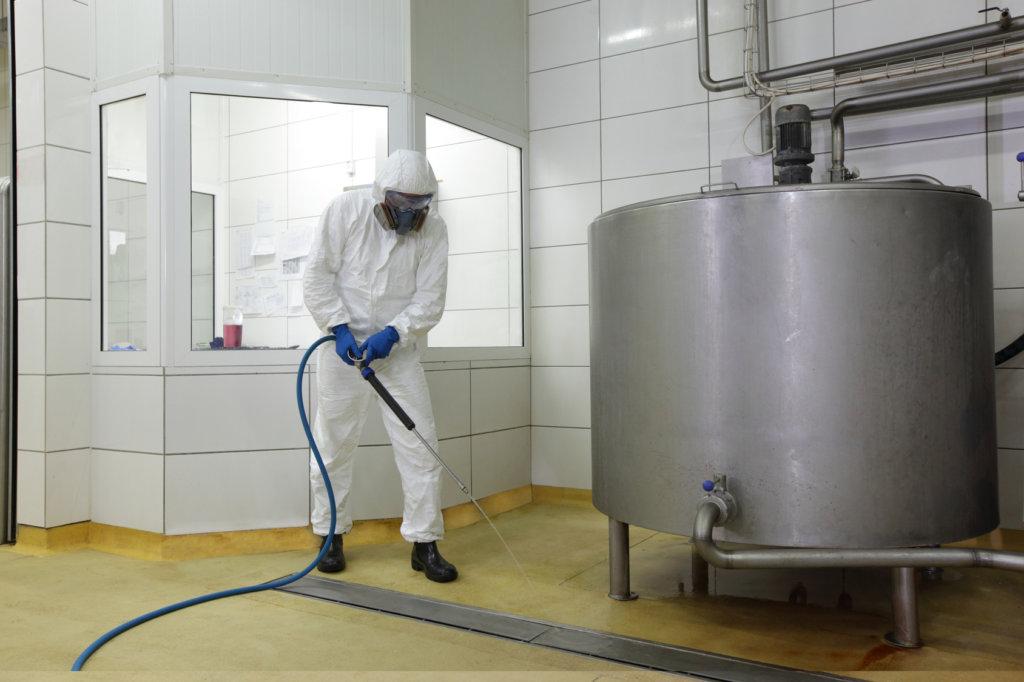 pulizia di locali industriali